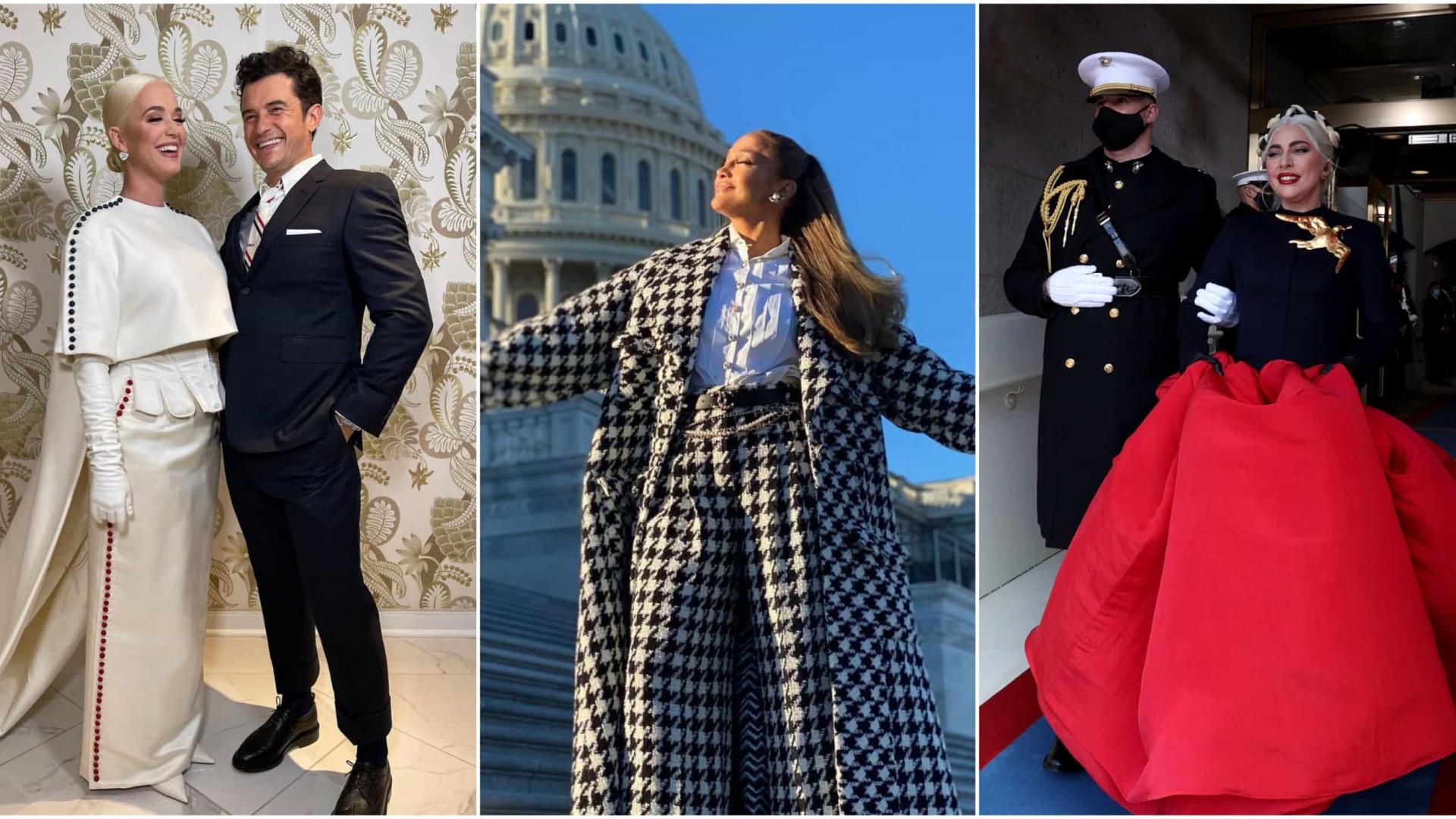 Confira os looks dos famosos na posse de Joe Biden