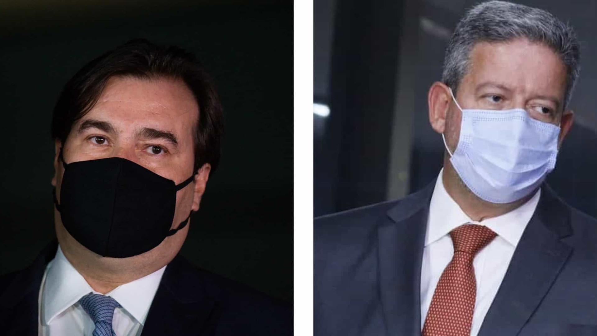 Eleição Câmara: Reunião de líderes começa com troca de ofensas entre Maia e Lira