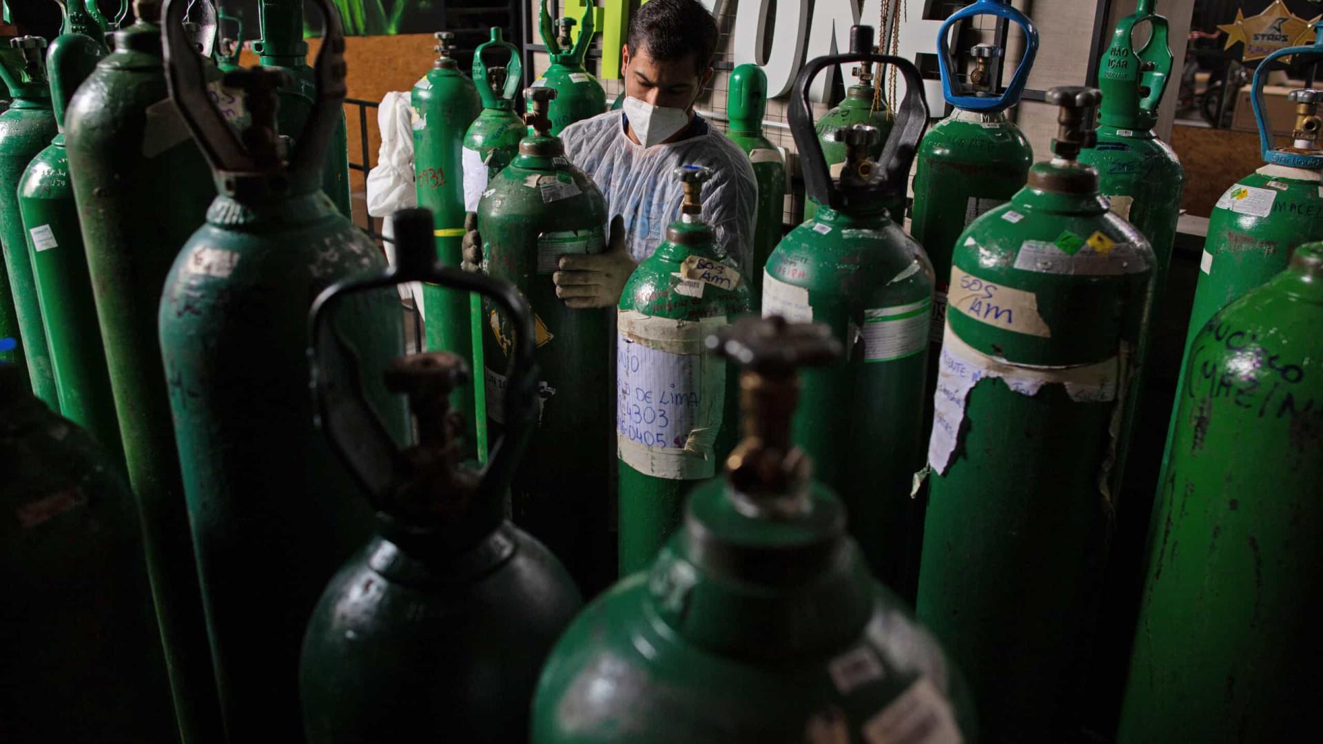 Saúde aponta que sete estados têm maior dificuldade em manter estoques de oxigênio