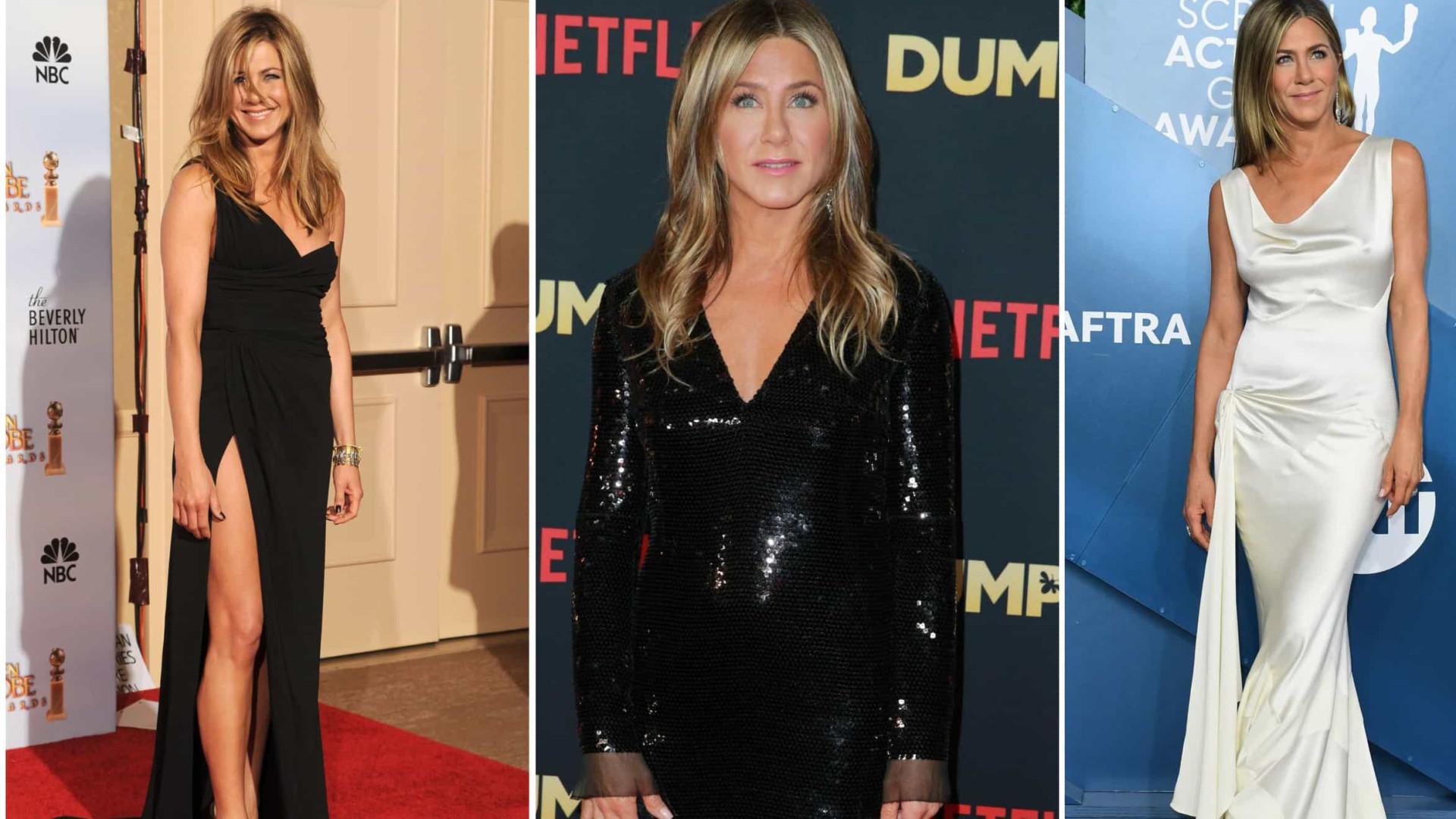 A evolução de Jennifer Aniston nos últimos 10 anos