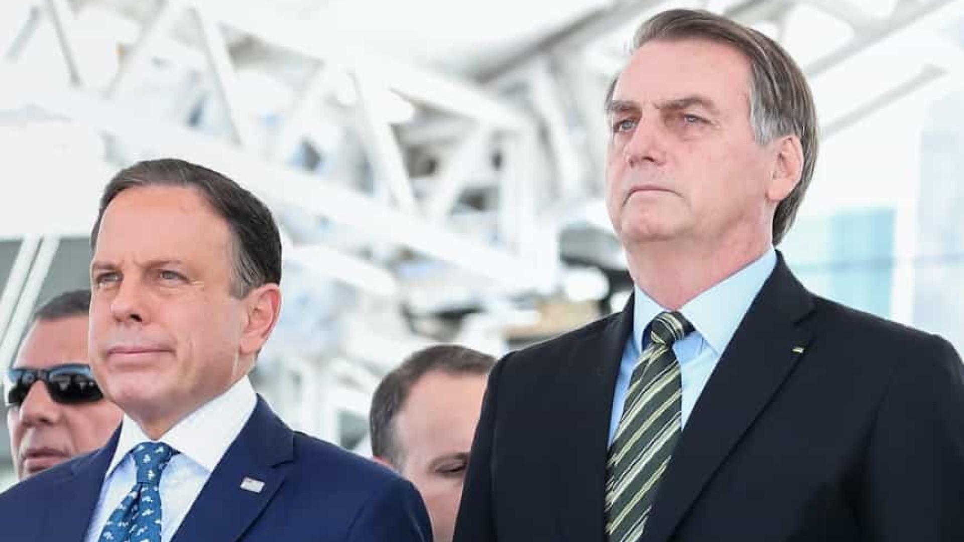 Doria: no pior momento da pandemia, presidente exalta 'chega de mimimi'