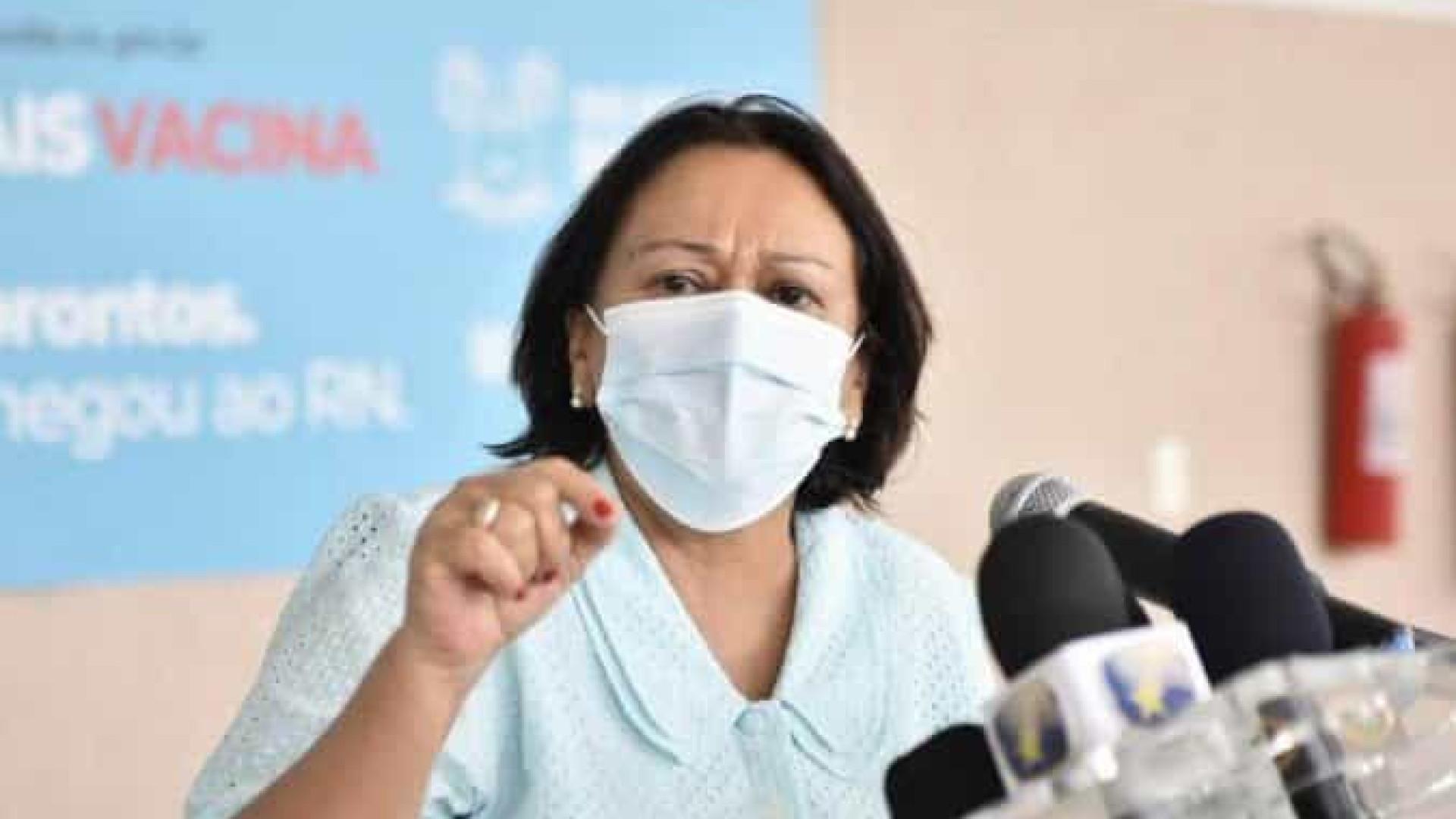 Governadora do RN chora ao anunciar medidas mais restritivas contra a covid-19