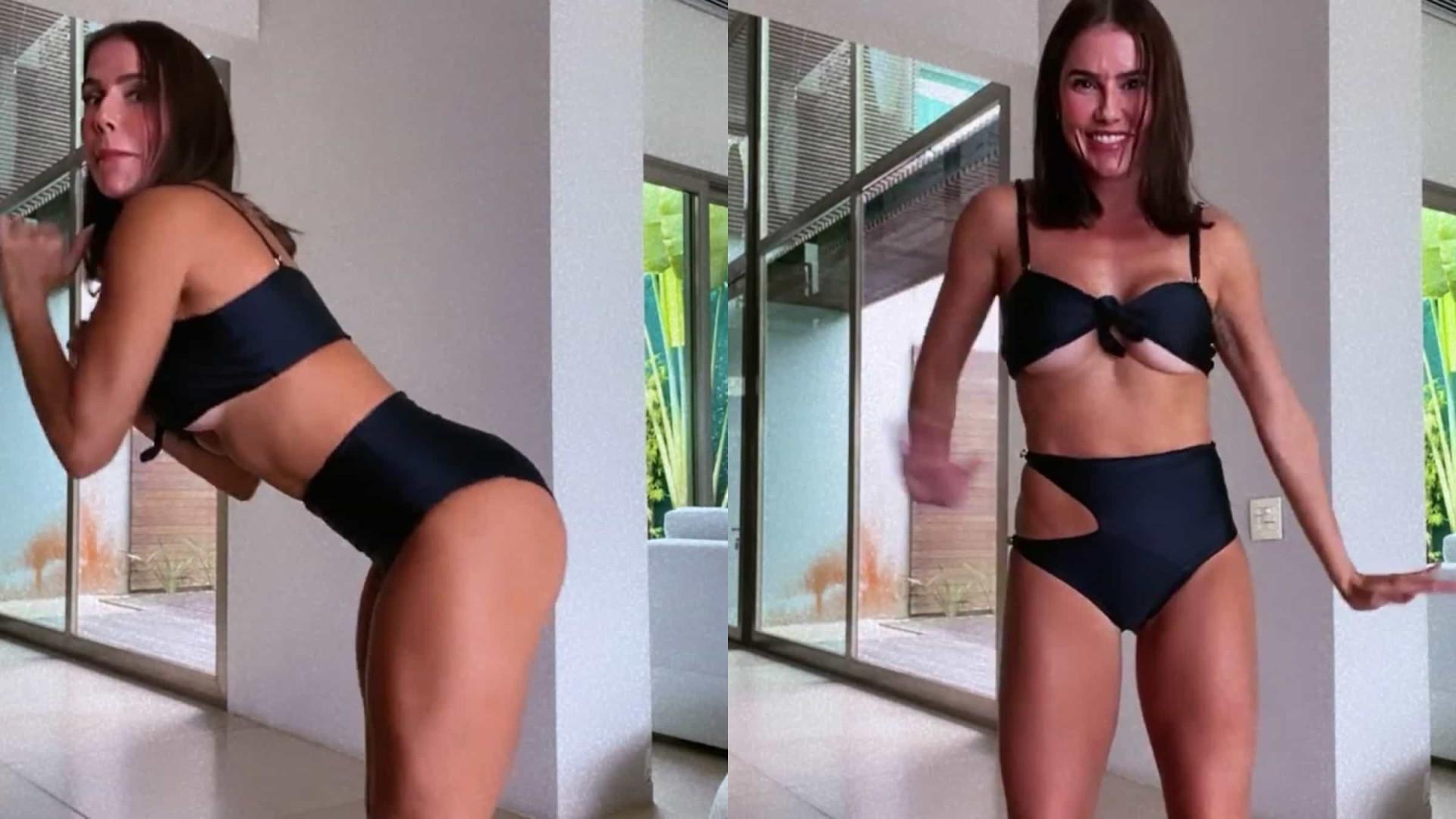 Vídeo: Deborah Secco anima seguidores com dança sensual