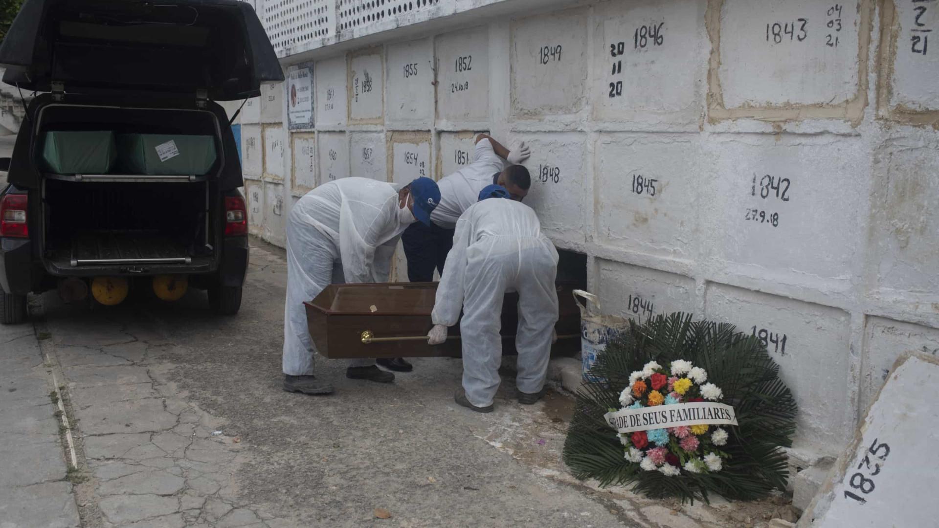 Brasil registra mais 2.513 mortes por Covid-19 em 24h
