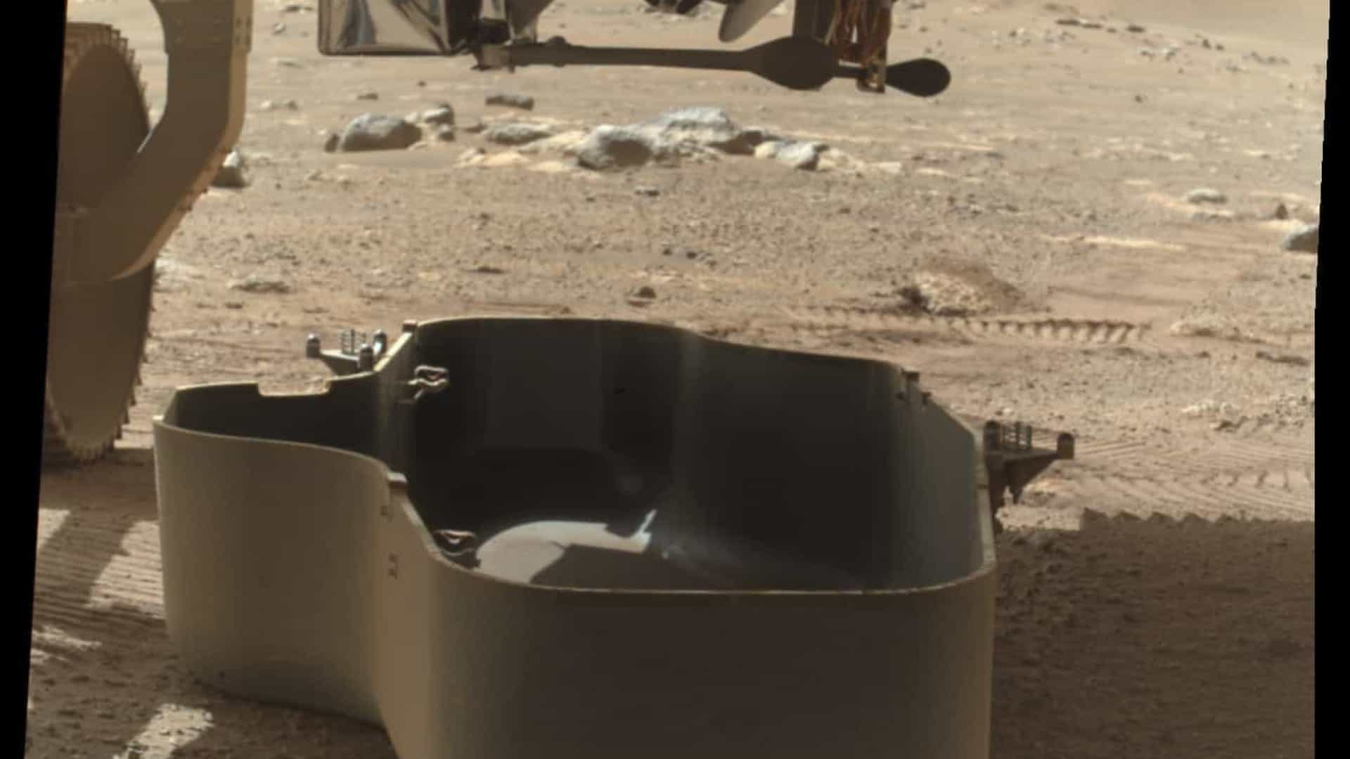 NASA compartilha primeira fotografia do helicóptero de Marte