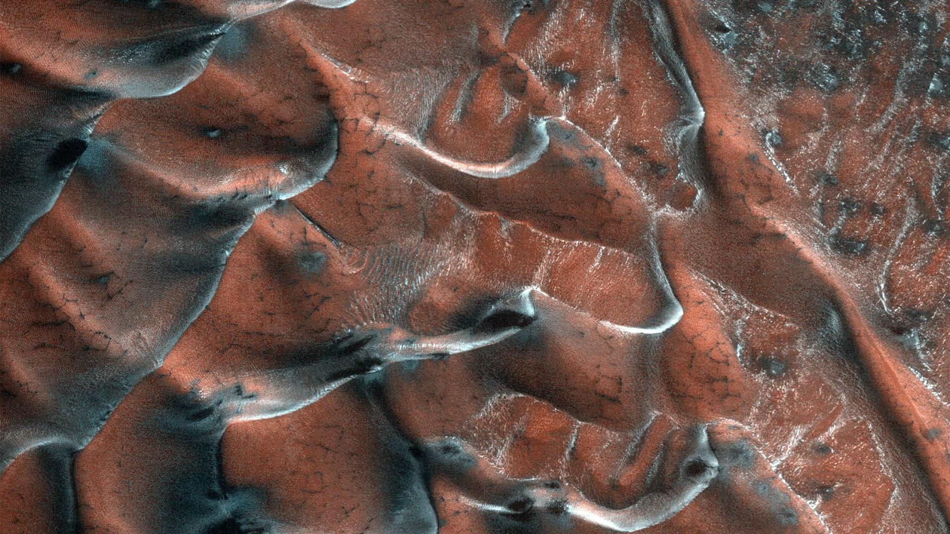 NASA posta nova fotografia de dunas geladas de Marte