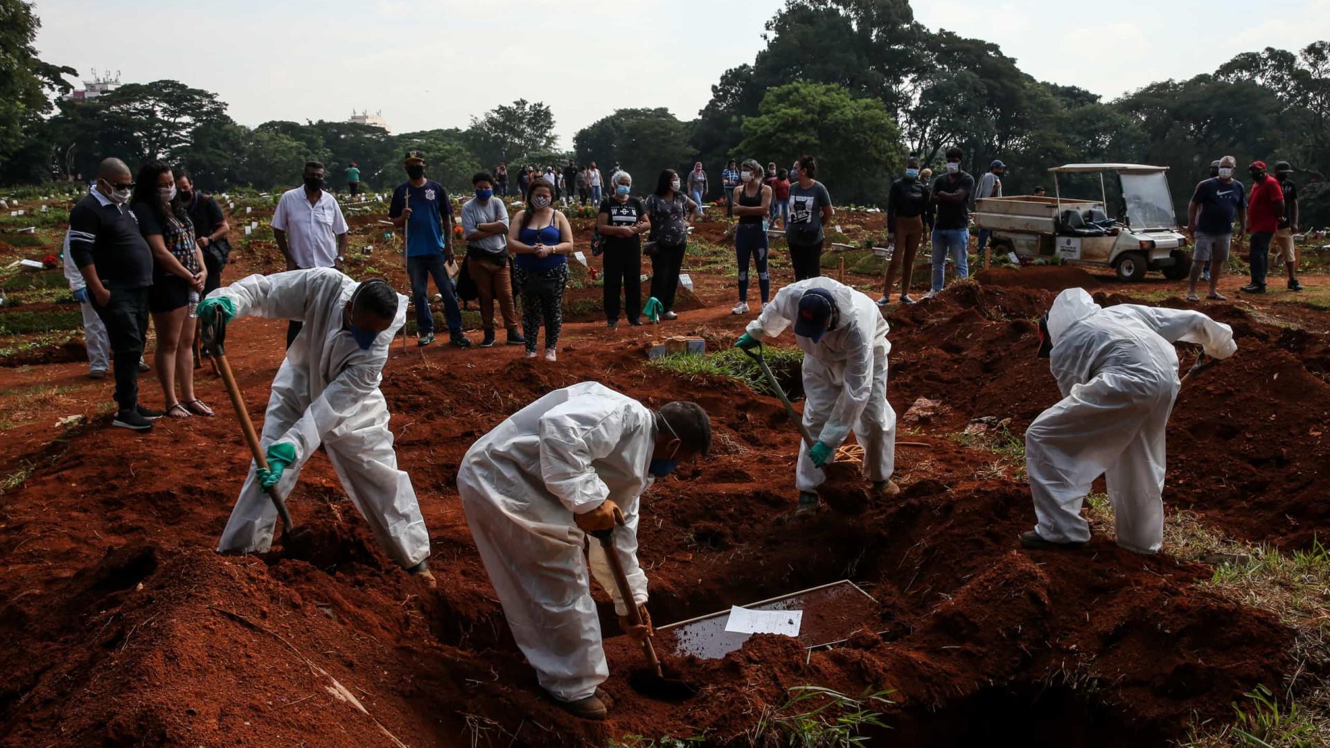 Brasil registra mais 1.548 mortes por Covid-19 em 24h