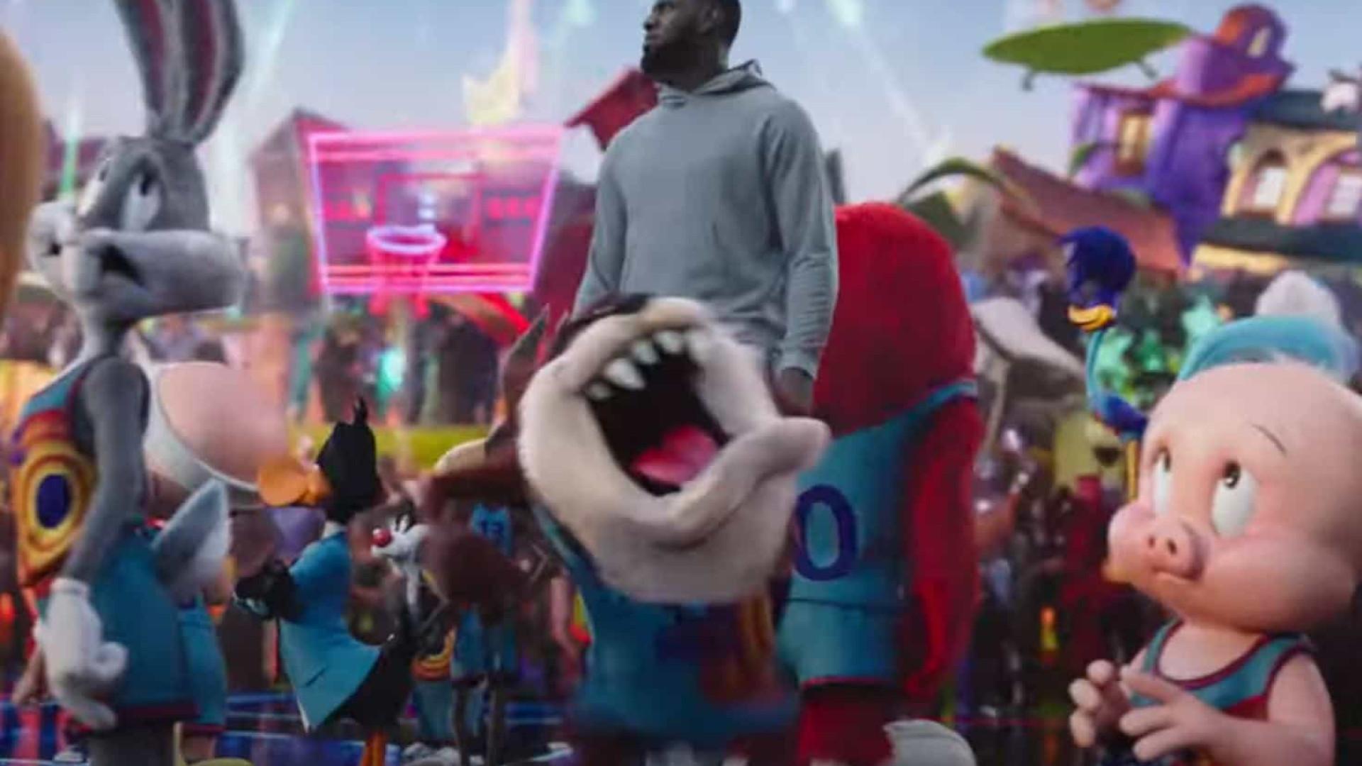 LeBron James vira desenho animado no primeiro trailer do novo 'Space Jam'