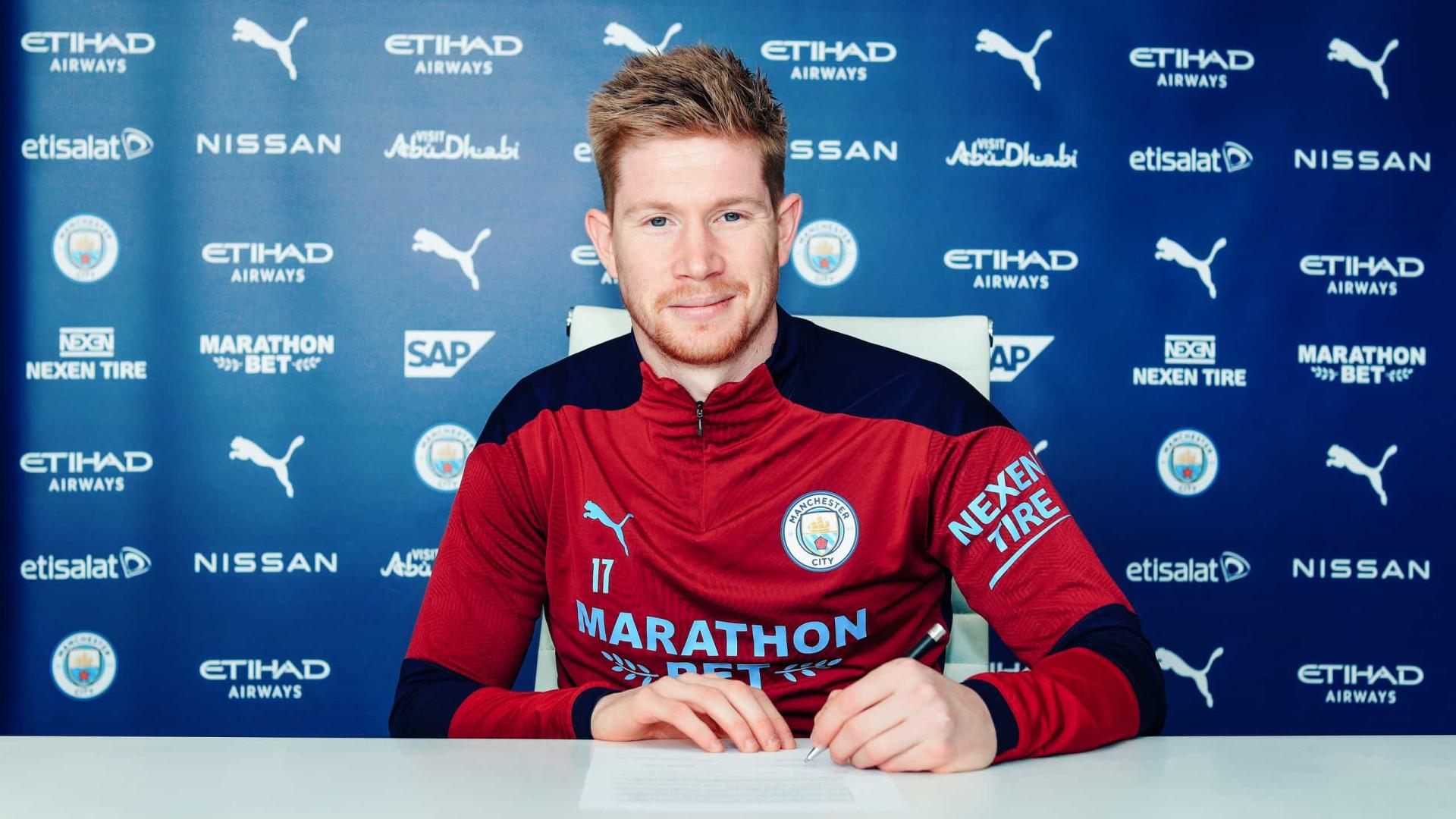 Manchester renova o contrato com belga Kevin De Bruyne até 2025