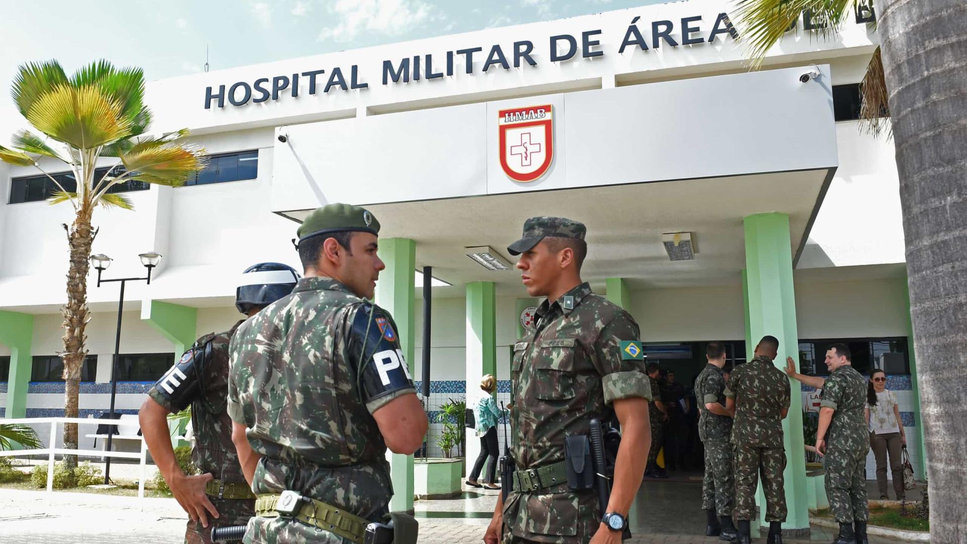 Hospitais das Forças Armadas reservam vagas para militares e deixam até 85% de leitos ociosos sem atender civis