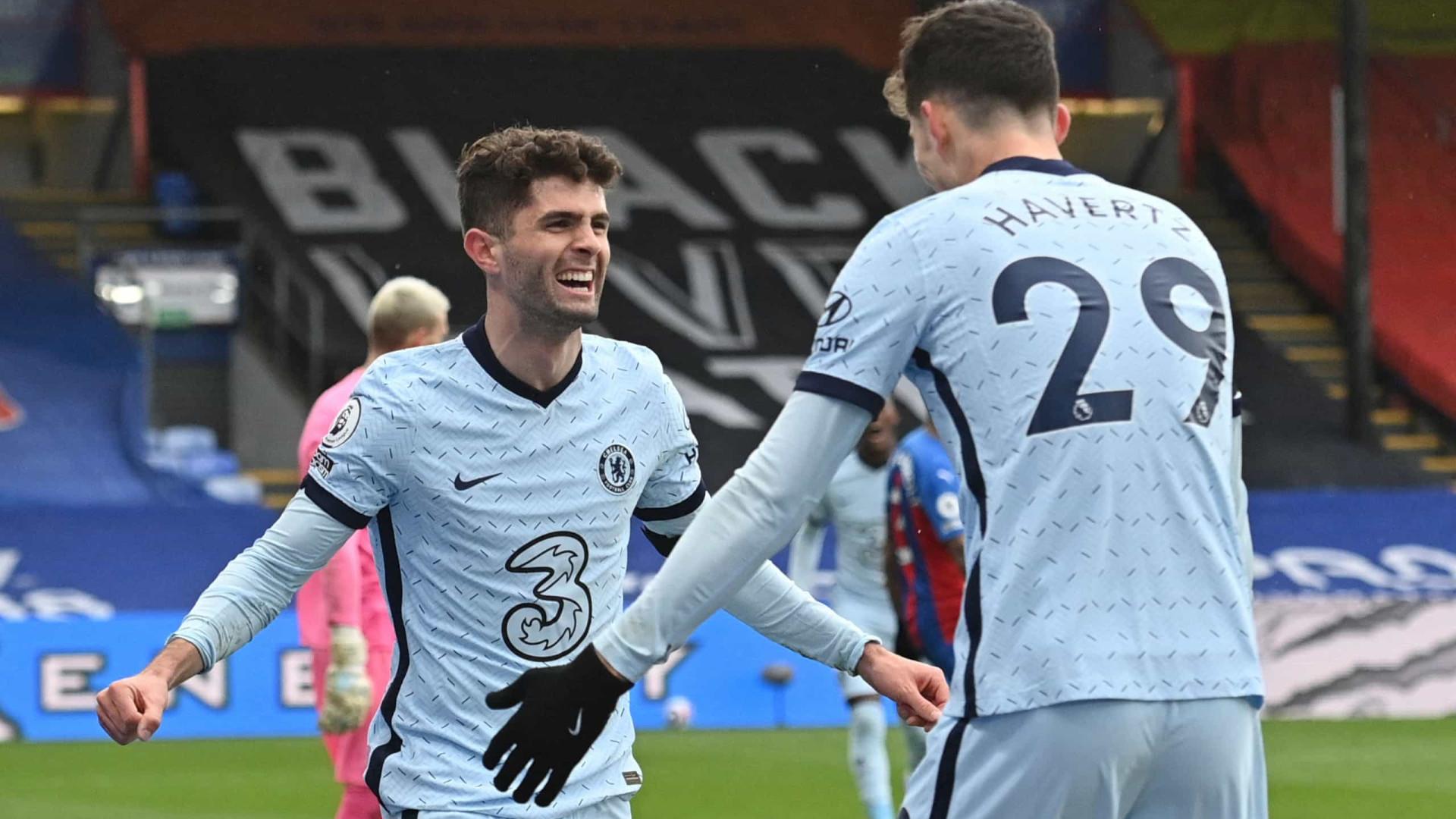 Com dois de Pulisic, Chelsea decide no 1º tempo e goleia Crystal Palace no Inglês