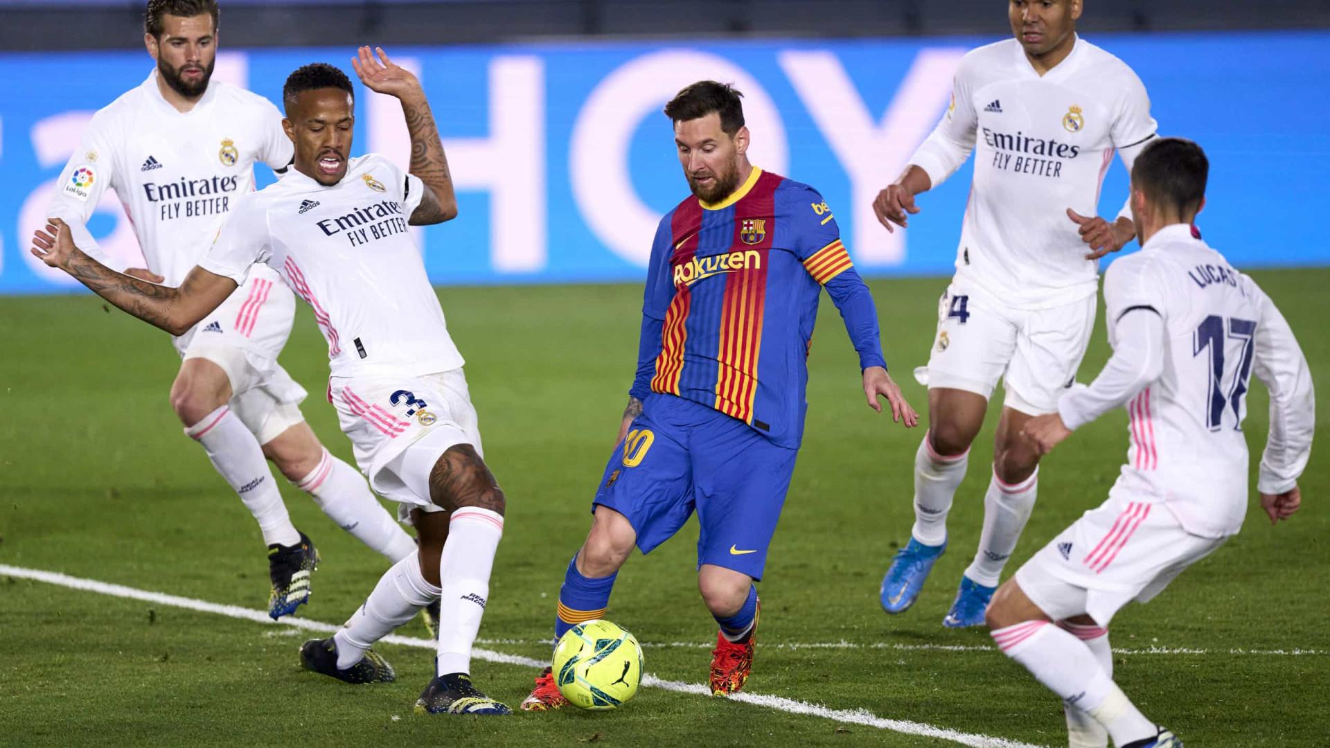 Real Madrid desbanca Barcelona, com Messi apagado, e dorme líder do Espanhol