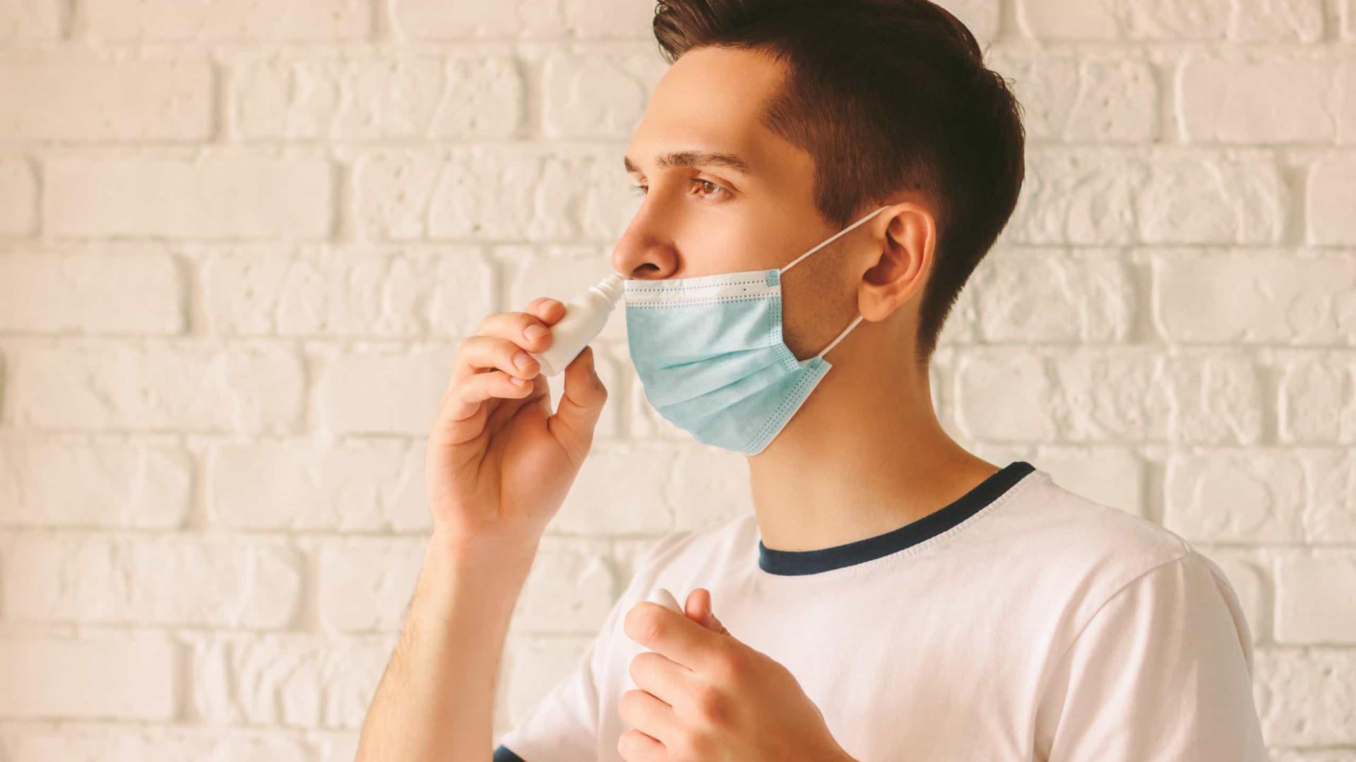 Spray nasal mata 99,99% do coronavírus, revela um novo estudo