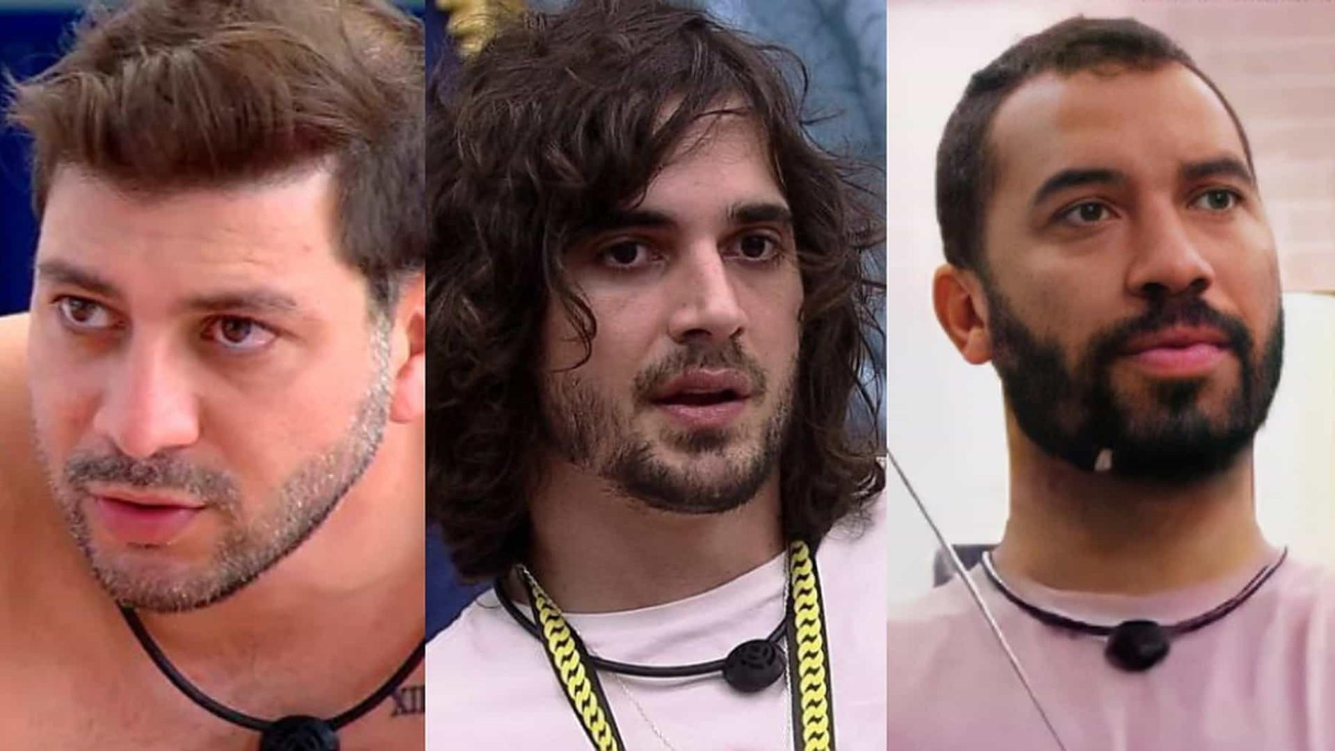 """Caio, Fiuk e Gilberto estão no Paredão do """"BBB21"""""""