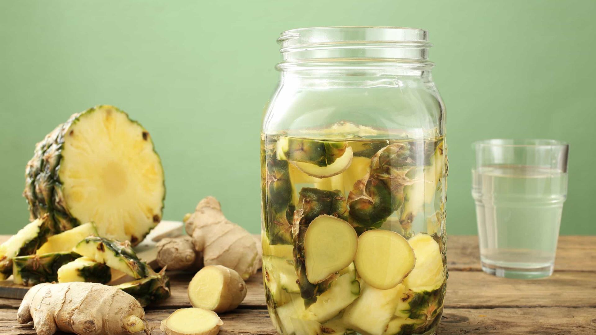 O super chá de gengibre com abacaxi que emagrece e 'seca' a barriga