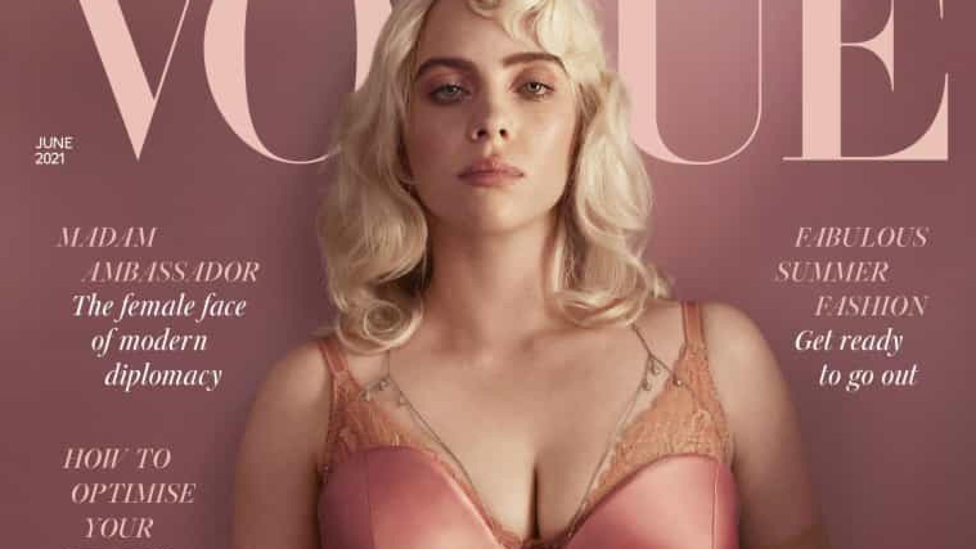 Billie Eilish como nunca a viu! Artista posa sensual para a revista Vogue