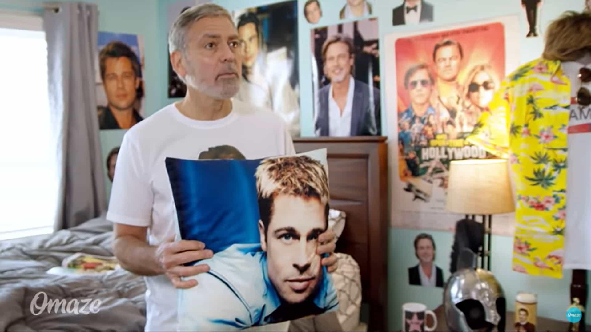 George Clooney revela obsessão por Brad Pitt em vídeo cheio de humor