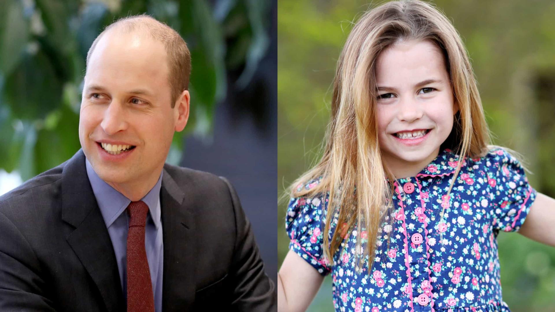 Príncipe William diz que a filha Charlotte diz que já tem 16 anos