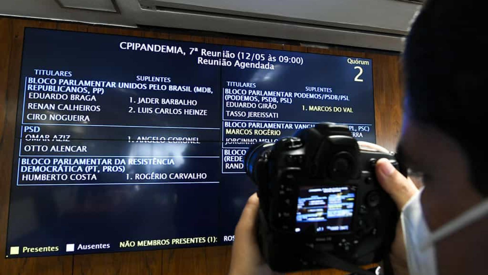 CPI abre sessão; senadores devem votar requerimentos na quinta-feira