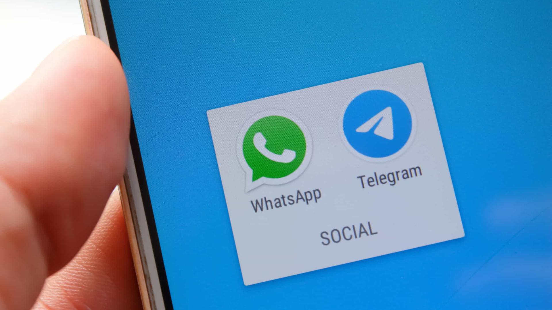 Telegram e WhatsApp trocaram provocações através do Twitter