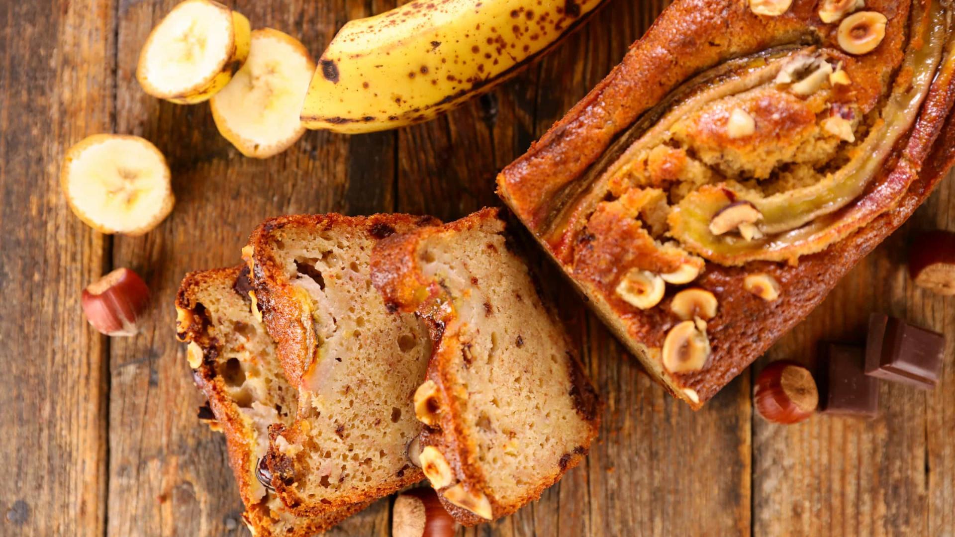 Pão de banana, aveia e mel: Uma tentação muito fofa