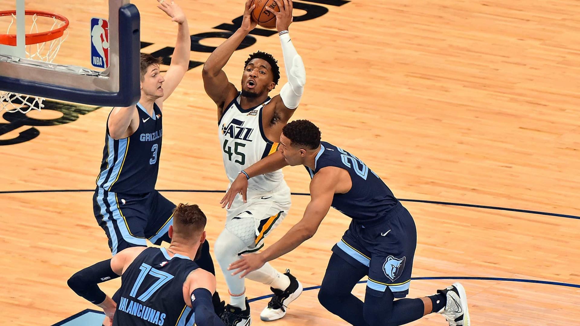 Jazz bate Grizzlies e fica a uma vitória das semifinais do Oeste; Wizards vencem