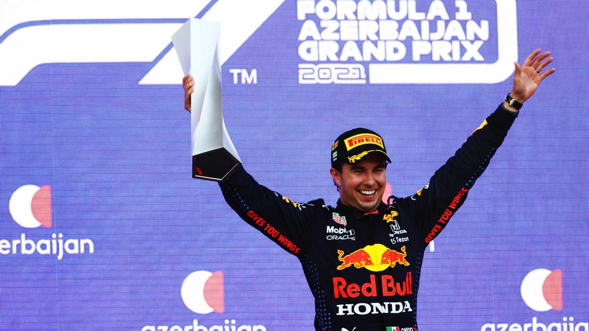 Max Verstappen bate, Hamilton erra e Sergio Perez vence o GP do Azerbaijão