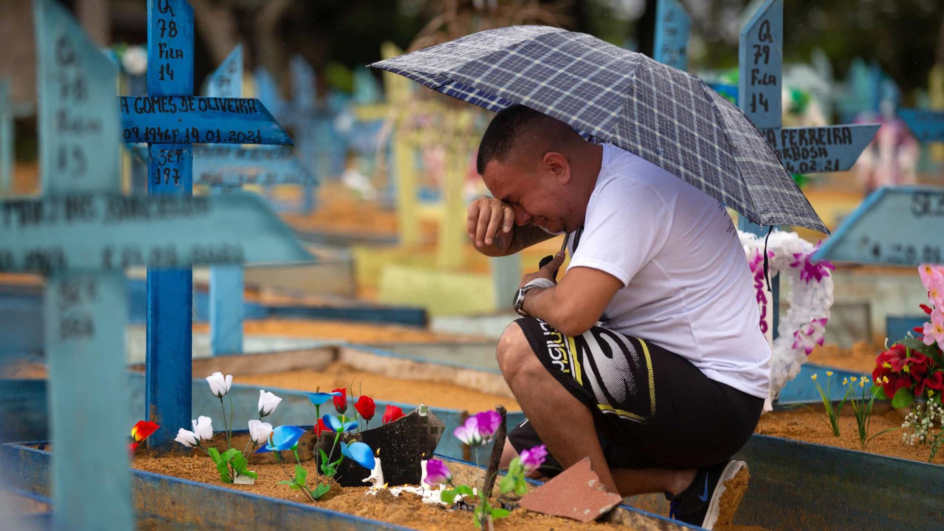 Brasil registra 2.997 mortes e 95.367 novos casos de covid-19 em 24h