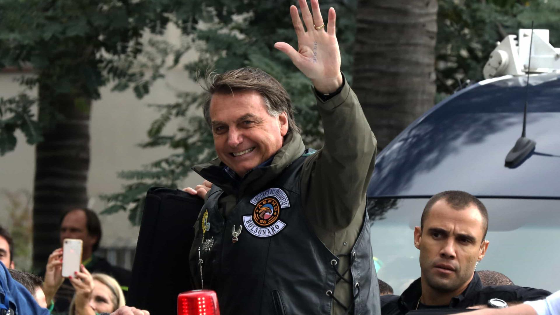 Motociata com Bolsonaro em SP teve 6.661 registros de veículos, aponta sistema de pedágio