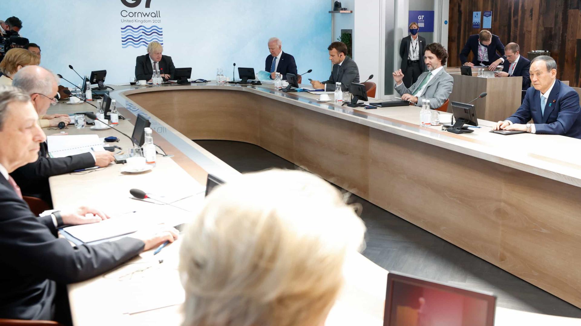 Líderes do G7 anunciam apoio a imposto global mínimo