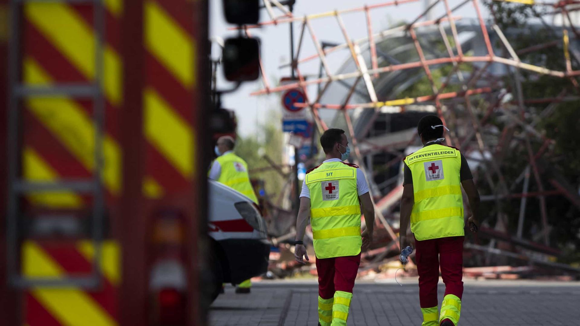 Desabamento de escola na Bélgica deixa três mortos