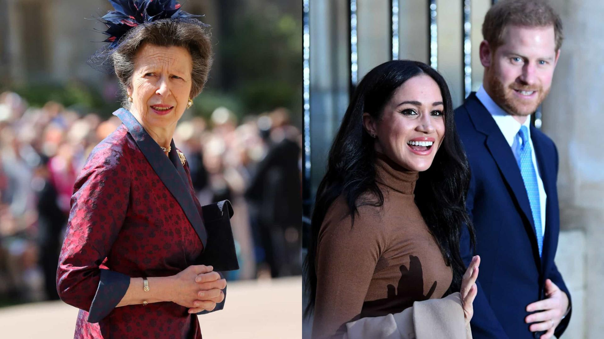 Princesa Ana teria avisado Harry para não se casar com Meghan Markle
