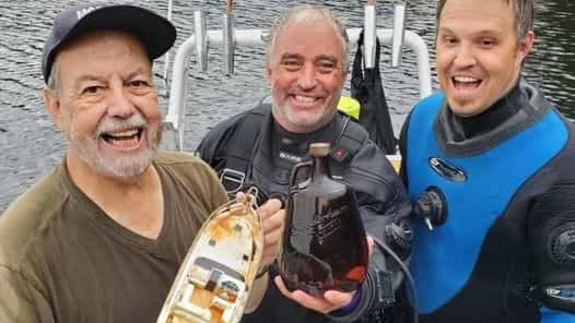 Whisky que afundou em lago de Ontário é descoberto quase 60 anos depois