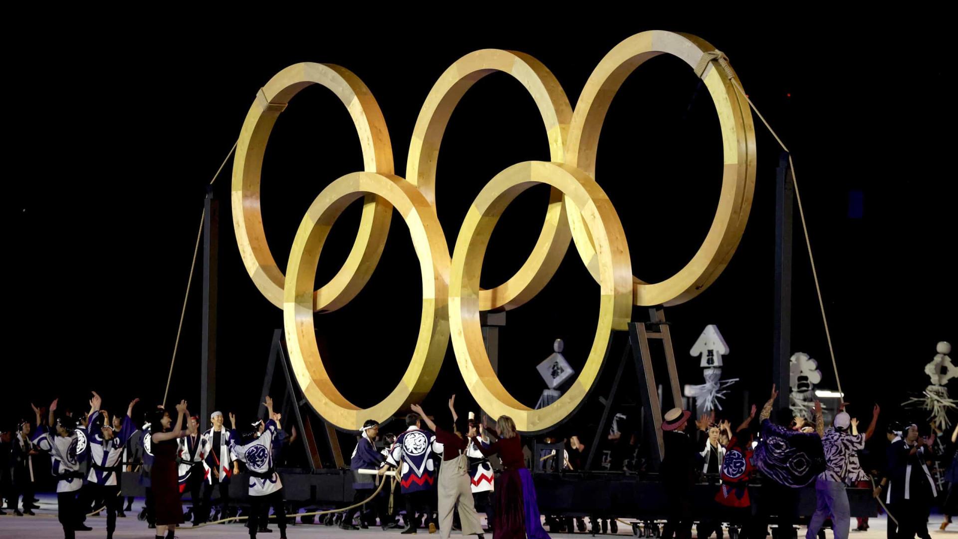 Manifestantes fazem protesto em Tóquio na abertura das Olimpíadas
