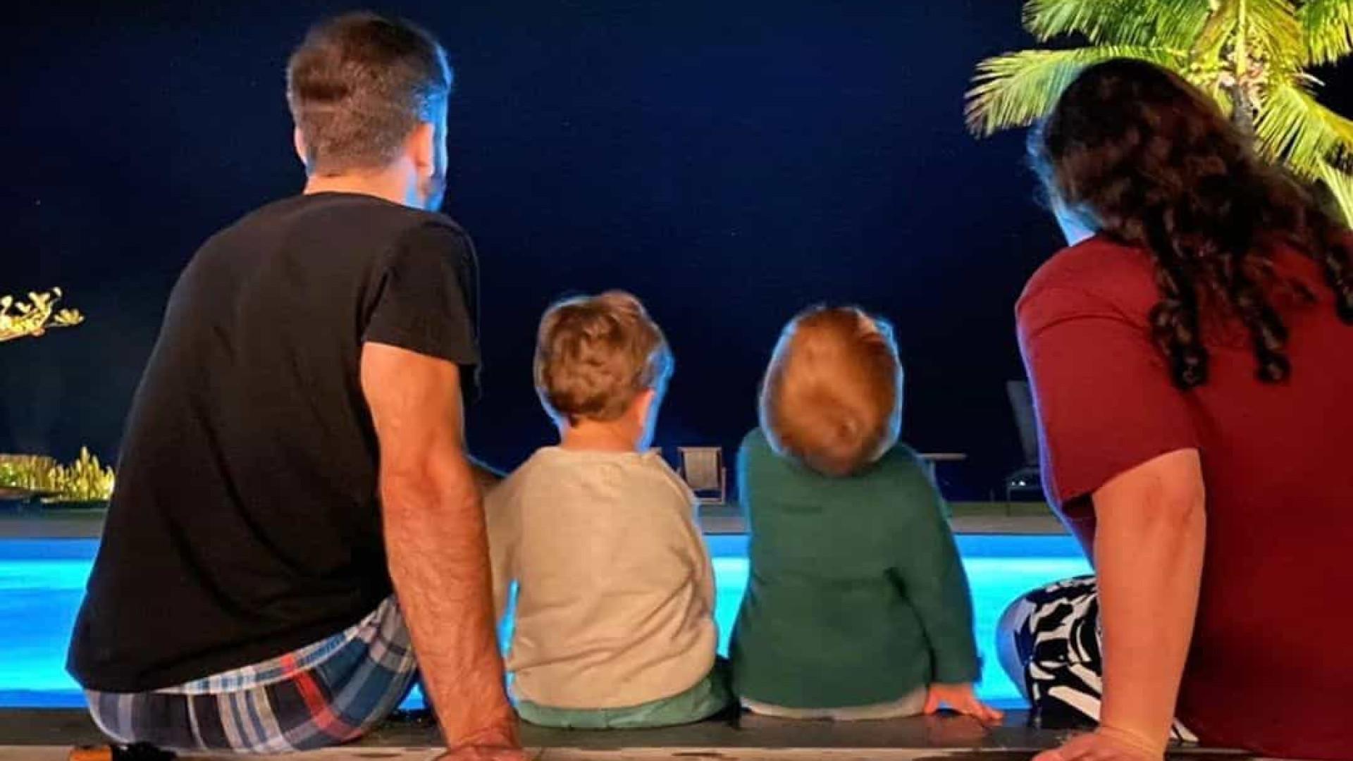 Ju Amaral celebra aniversário com sobrinhos e homenageia Paulo Gustavo