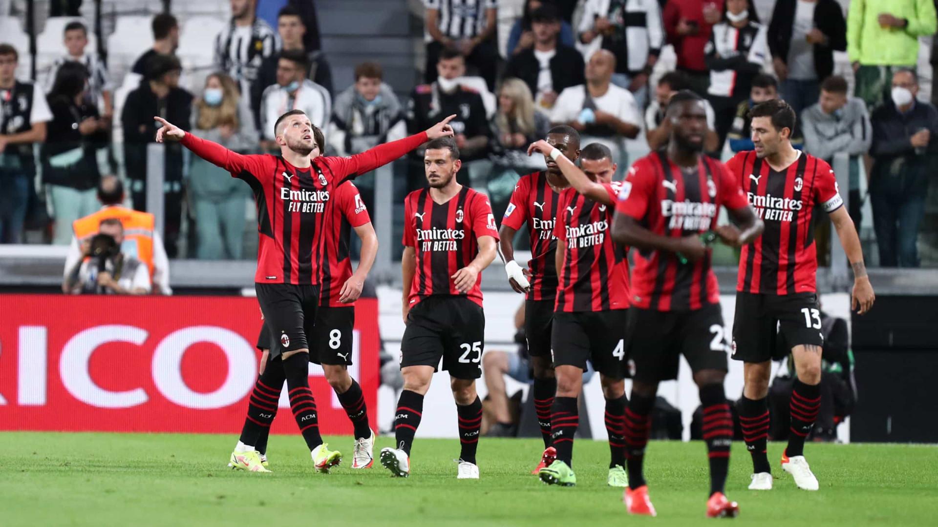 Milan busca empate em clássico, segue invicto e mantém jejum da Juventus