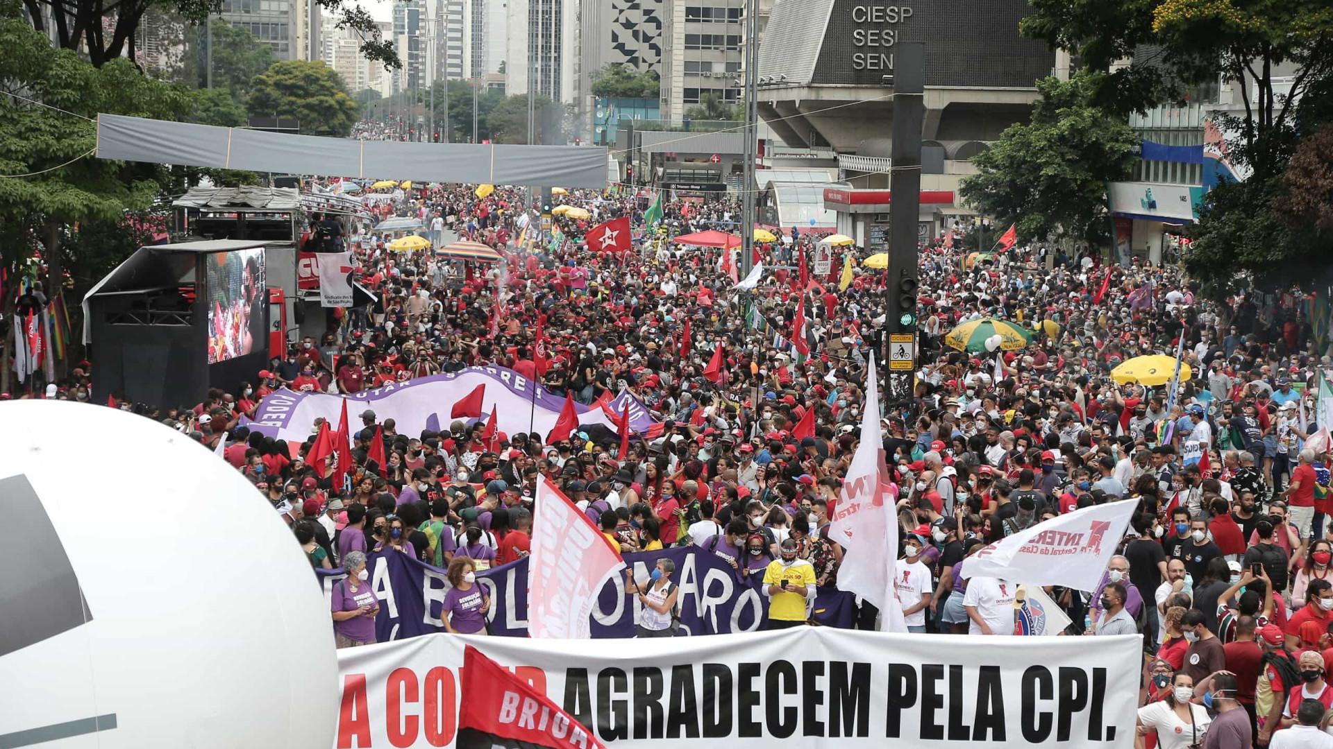 Atos anti-Bolsonaro têm adesões tímidas e nova ausência de Lula