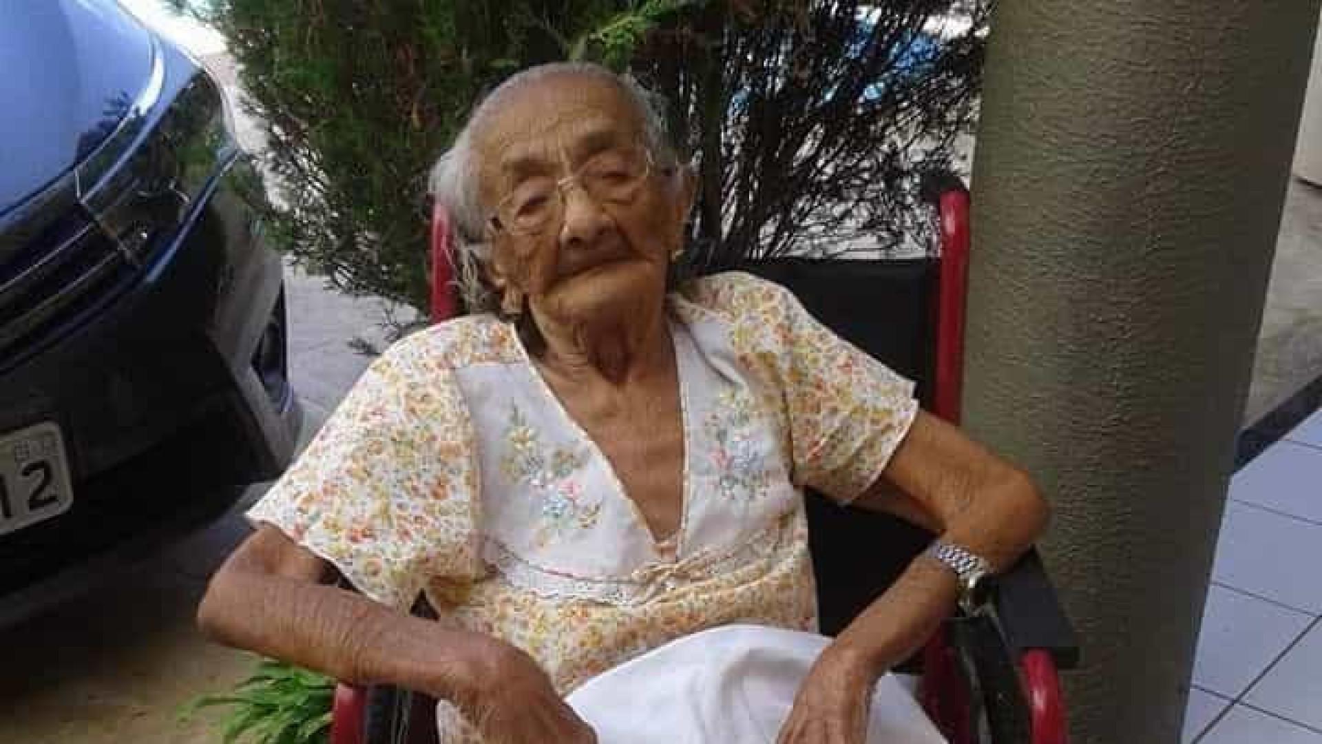 Morre a pessoa mais velha do Brasil. Francisca tinha 116 anos de idade