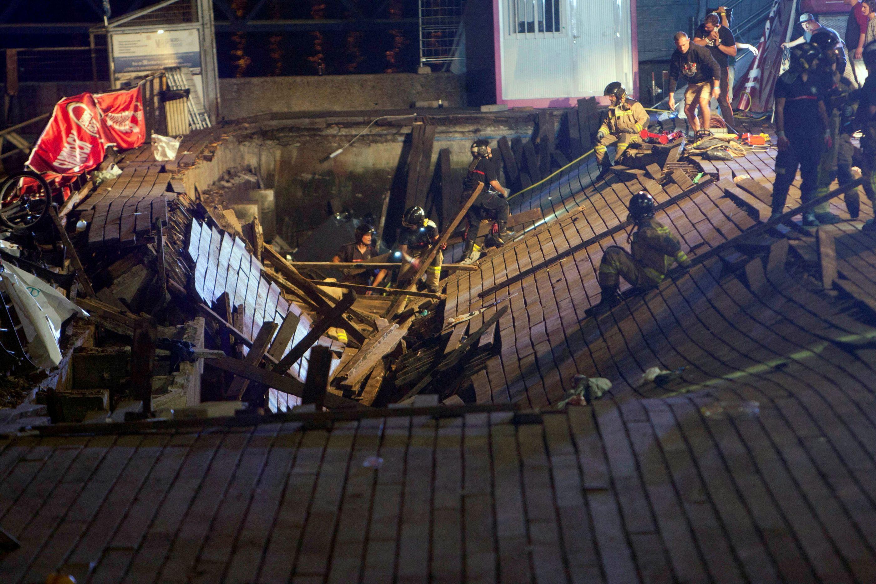 Plataforma cai durante festival na Espanha e deixa 300 feridos; veja