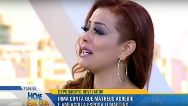 Li Martins revela em programa que já apanhou do marido: 'Não nego'