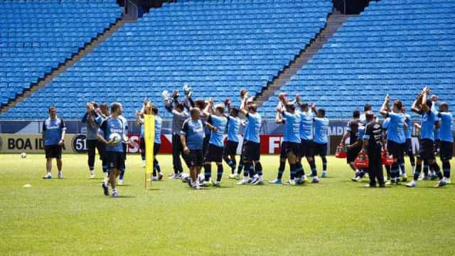 Grêmio finaliza preparação para o Gre-Nal com presença da torcida