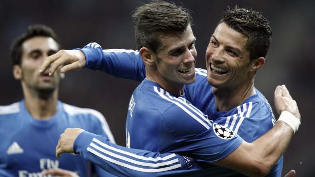 Real Madrid vence com gols de Bale e Cristiano Ronaldo