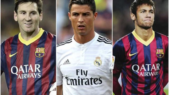 Neymar é finalista da Bola de Ouro da Fifa ao lado de Messi e Cristiano Ronaldo