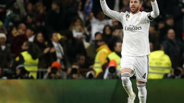 Sergio Ramos treina, mas ficará fora de jogo do Real na Liga dos Campeões