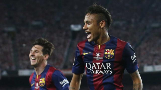 Assista ao gol de Neymar e aos 3 de Messi na Vitória do Barcelona