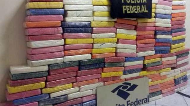 PF apreende mais de 200 quilos de cocaína que ia para França e Espanha