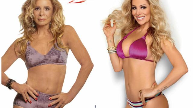 Danielle Winits e a mãe, de 63 anos, são estrelas em campanha de lingerie
