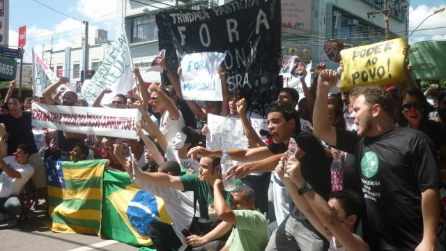 Protesto: Goiânia reuniu 50 mil manifestantes segundo PM