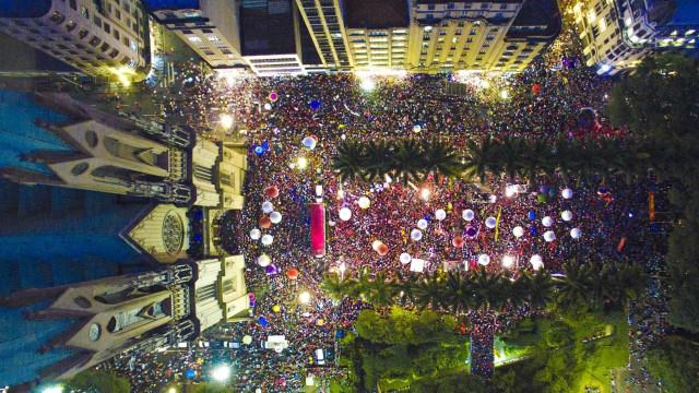 Confira as fotos das manifestações  desta quinta-feira (31)
