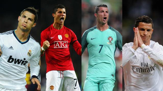 Confira as muitas caretas de Cristiano Ronaldo